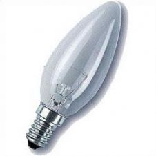 Lamp 25w SES Small Edison Screw Clear Candle Lamp 35mm